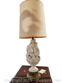 Mid Centry Italian Blanc de Chine Topiary Fruit Form Table Lamp