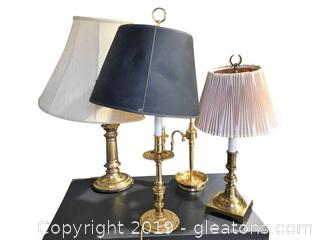 Lot of Brass Lamps