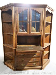 Mid Centry (3) Piece Corner China Cabinet/Bookshelf Unit/Wall Unit