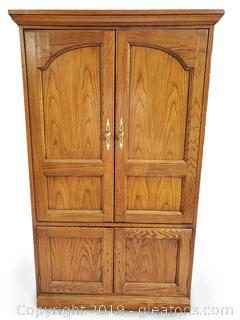 Small Wooden Entertainment TV Armoire