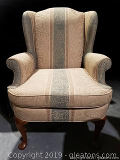 """Studio Bernhardt"" Wing-back Chair"