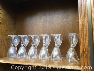 Set of 12 Crystal Goblets