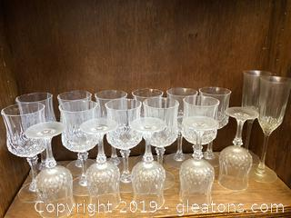 Nice Cut-Crystal Wine Glasses