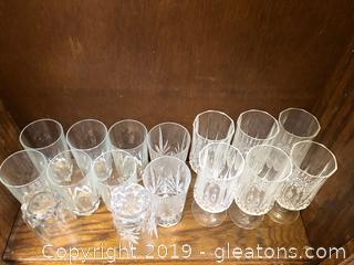 Petty Cut-Glass Water Glasses