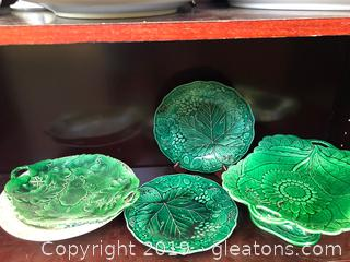 Various Pretty China Pieces All Vintage Greenery