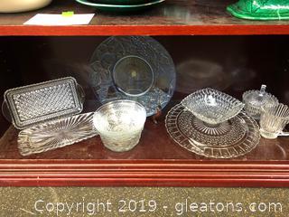 Elegant Cut Glass Hostess Pieces