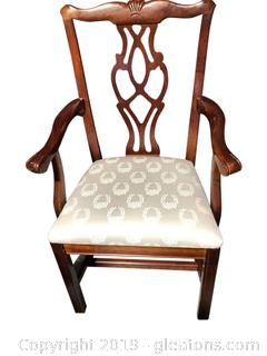 One Sturdy Wooden Chair with Beautiful Back