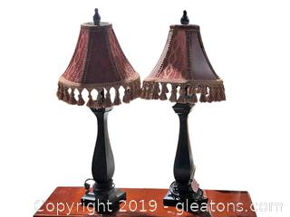 High-End Pair of Table Lamps