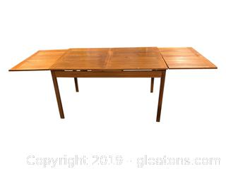 Solid Teak Farmhouse Table-Vintage