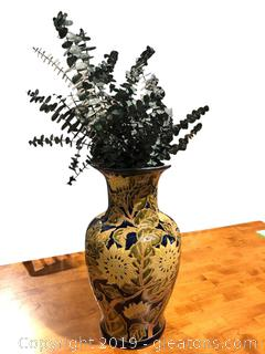 Large Ceramic Jug of Decorative Greenery