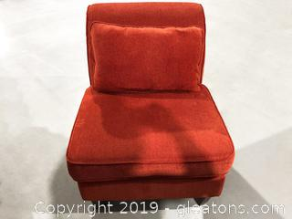 Brunt Orange Bent-Back Chair
