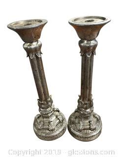 Stunning Pair of Tall Candle-Sticks