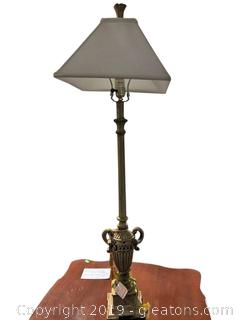Tall Goldtone Table Lamp