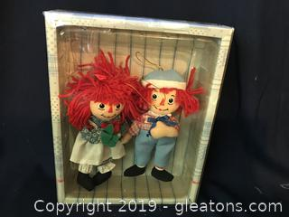"Raggedy Ann and Andy 6"" new and very old 1 picture"