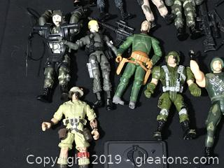 Lot of G I Joe and other action figures