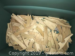 Lot of wooden train track for Thomas and Friends