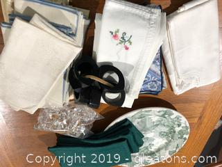 Sets Of Vintage Napkins And More