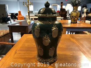 "Lovely 18"" Urn With Lid"
