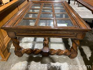 Marge Carson Barn Door Coffee Table