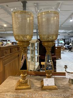 Pair Large Table top Urns
