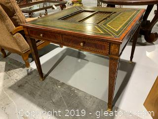 Maitland Smith Leather Game Table