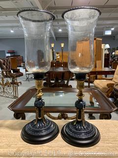 Brass Urn Pair Candle Holder