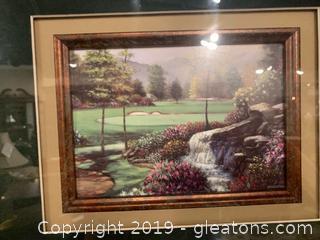 Free Standing Framed Golf Print