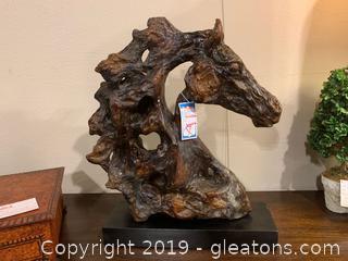 Sculptured Art-Stallion Head