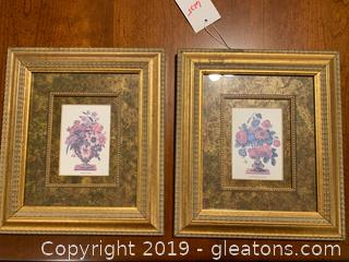 Pair of Baldwin Graphic Prints in Gold Frames