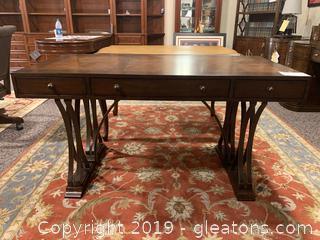 Metal and Wood Writing Table