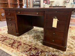 New Solid Wood Executive Desk