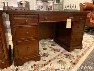 Solid Wood 7 Drawer Desk