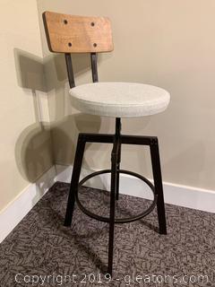 Wooden Back Bar stool
