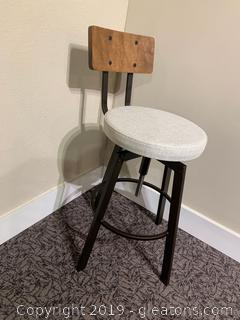 Wood And Metal Bar Stool Made By Hooker Furniture company