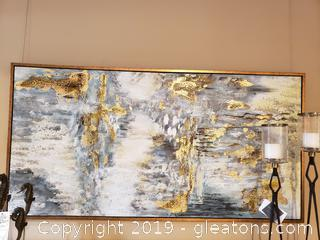 Large Abstract Oil on Canvas Art