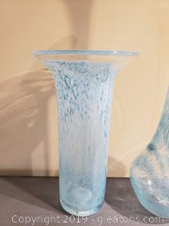 Two Blown Glass Vases