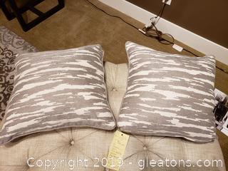 Pr Of Designer Accent Pillows