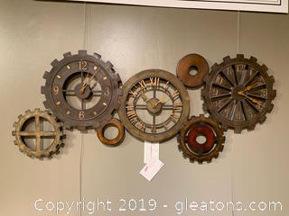 Gear Wall Hanging Clock by Uttermost