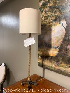 Gold, footed, Table Lamp