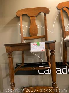Wooden Dining Chair By Canadel Co.