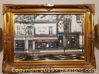 New Oil Painting In Beautiful Gold Carved Frame By Picture Gallery