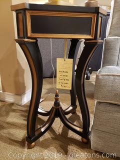 "New ""Luxe"" Square Side Table Black/Gold Brushed"
