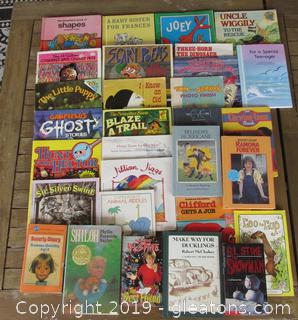 Lot of 30 Children Books Most are soft covers 8 are hard covers