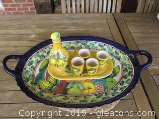 X-Large Serving Tray and a Limoncello Set