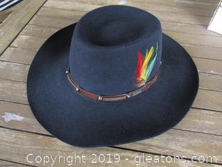 "Akubra Pure Fur Felt Hat  Outback Trading Company Ltd ""Size 59""  Made in Australia Comes in Box"