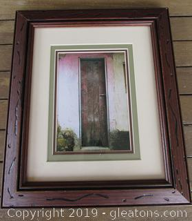 35 mm photo of a Door in a Third World Country Title No3 Sec3 Framed 13 1/2 By 11 1/2  / Photo 5 x 7 / Triple matted