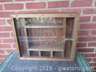 Hand Made Primitive Shadow Box with Glass 12 1/2  inches tall by 15 1/2 inches wide 3 1/4 inches deep  / Has Glass / Ready to Hang