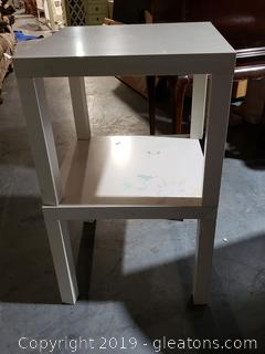 PR of Ikea White End Tables