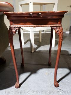Hand-Carved Side Table