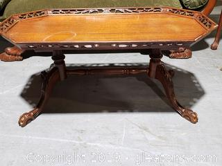 Hand-Carved Victorian Cocktail/Coffee Table